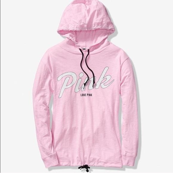 PINK Victoria's Secret Tops - VS PINK LIGHTWEIGHT CAMPUS PULLOVER L